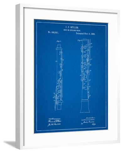 Oboe Patent-Cole Borders-Framed Art Print