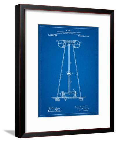 Tesla Energy Transmitter Patent-Cole Borders-Framed Art Print