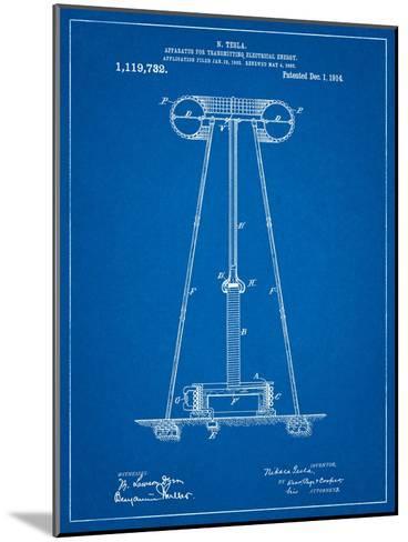 Tesla Energy Transmitter Patent-Cole Borders-Mounted Art Print