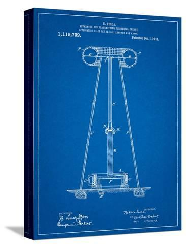 Tesla Energy Transmitter Patent-Cole Borders-Stretched Canvas Print