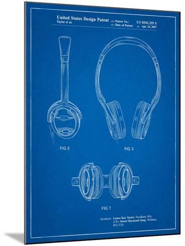 Noise Canceling Headphones Patent-Cole Borders-Mounted Art Print