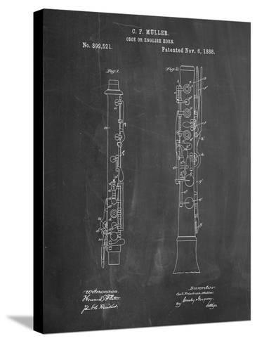 Oboe Patent-Cole Borders-Stretched Canvas Print