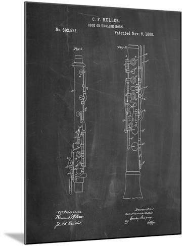 Oboe Patent-Cole Borders-Mounted Art Print