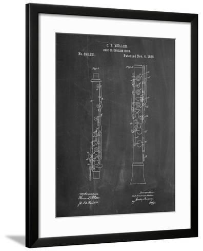 Oboe Patent-Cole Borders-Framed Art Print
