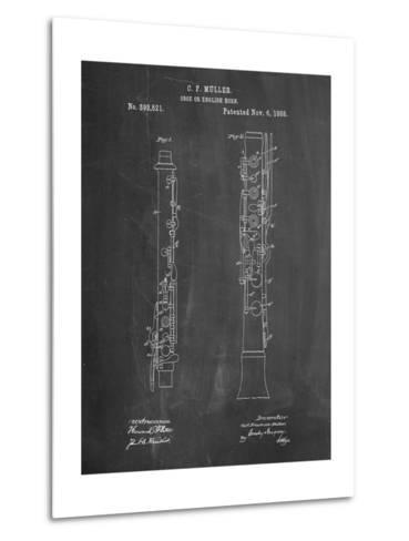 Oboe Patent-Cole Borders-Metal Print