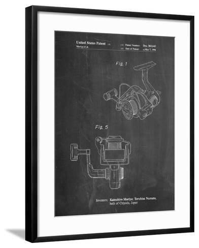 Open Face Spinning Fishing Reel Patent-Cole Borders-Framed Art Print