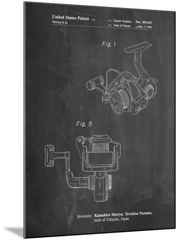 Open Face Spinning Fishing Reel Patent-Cole Borders-Mounted Art Print