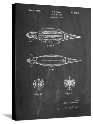 Rocket Ship Model Patent-Cole Borders-Stretched Canvas Print