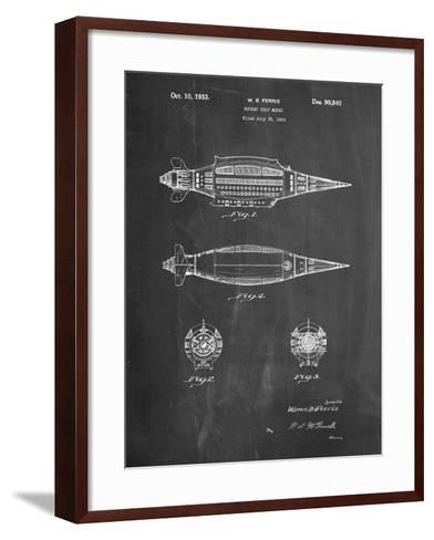Rocket Ship Model Patent-Cole Borders-Framed Art Print