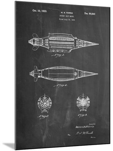 Rocket Ship Model Patent-Cole Borders-Mounted Art Print