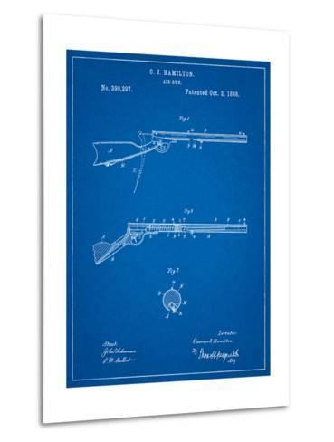 Daisy Air Rifle Patent Art-Cole Borders-Metal Print