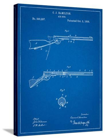 Daisy Air Rifle Patent Art-Cole Borders-Stretched Canvas Print
