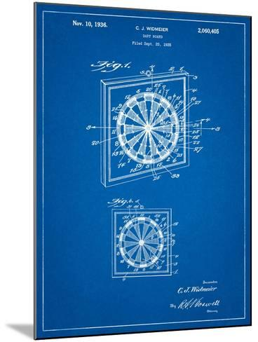 Dart Board 1936 Patent-Cole Borders-Mounted Art Print
