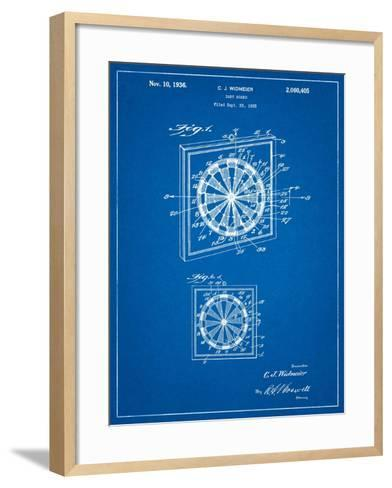 Dart Board 1936 Patent-Cole Borders-Framed Art Print