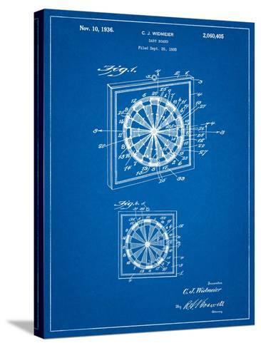 Dart Board 1936 Patent-Cole Borders-Stretched Canvas Print