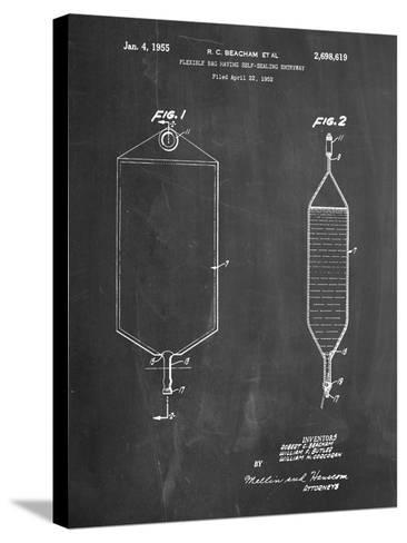 I.V. Bag Patent-Cole Borders-Stretched Canvas Print