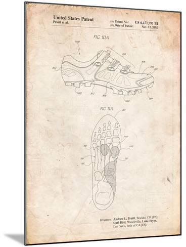 Cycling Shoes Patent-Cole Borders-Mounted Art Print