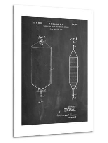I.V. Bag Patent-Cole Borders-Metal Print