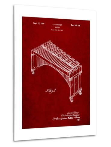 Musser Marimba Patent-Cole Borders-Metal Print