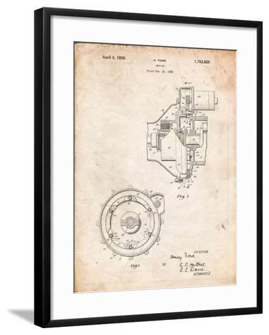 Ford Engine 1930 Patent-Cole Borders-Framed Art Print