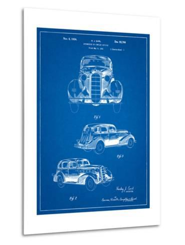 1934 Buick Automobile Patent-Cole Borders-Metal Print