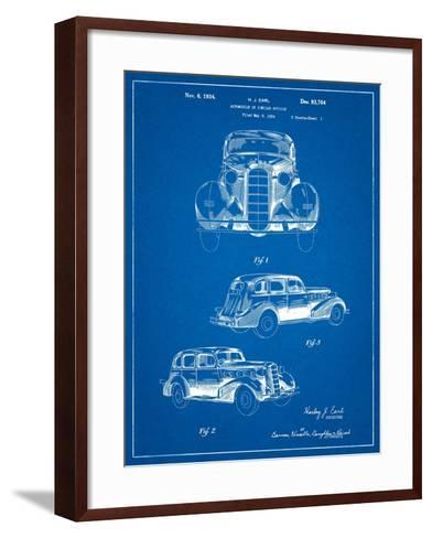 1934 Buick Automobile Patent-Cole Borders-Framed Art Print