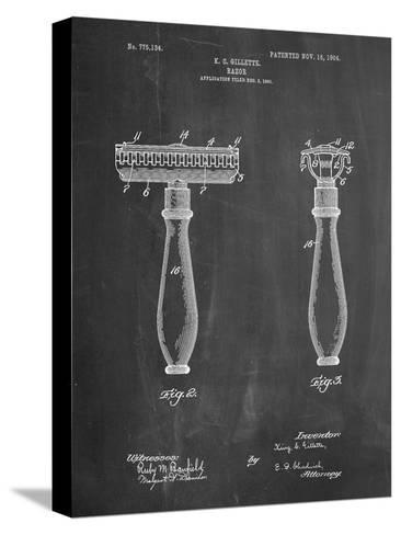 Safety Razor Patent-Cole Borders-Stretched Canvas Print