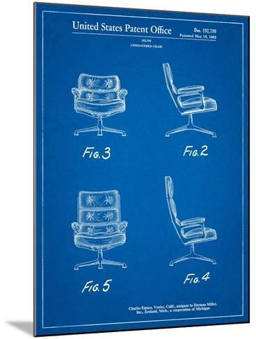 Eames Upholstered Chair Patent-Cole Borders-Mounted Art Print