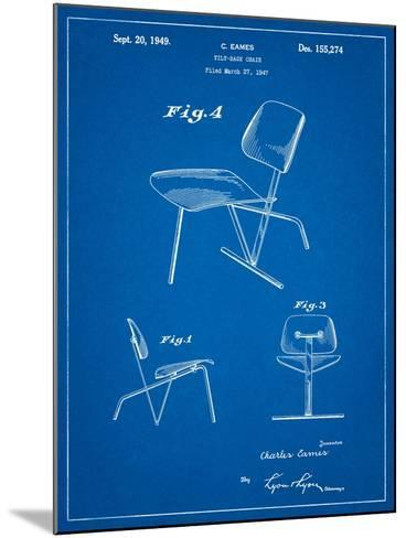 Eames Tilt Back Chair Patent-Cole Borders-Mounted Art Print