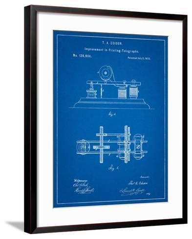 Edison Printing Telegraph Patent Art-Cole Borders-Framed Art Print