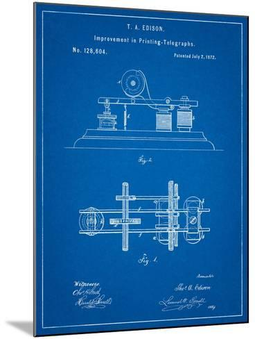 Edison Printing Telegraph Patent Art-Cole Borders-Mounted Art Print