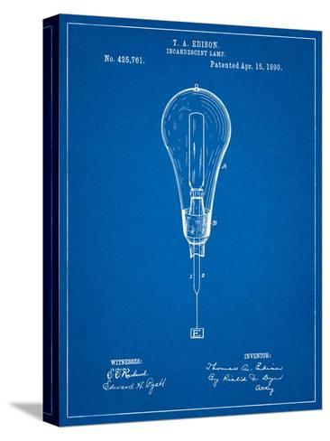 Edison Light Bulb 1890 Patent-Cole Borders-Stretched Canvas Print