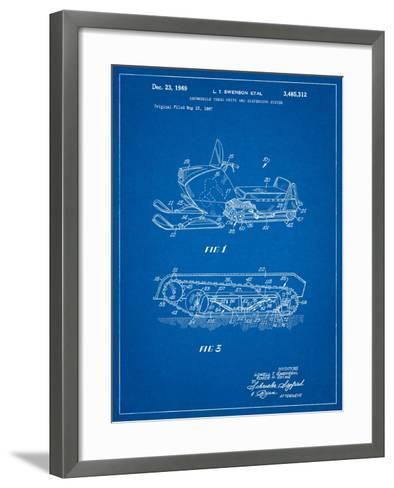 Snow Mobile Patent-Cole Borders-Framed Art Print