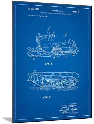 Snow Mobile Patent-Cole Borders-Mounted Art Print