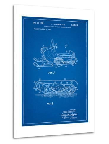 Snow Mobile Patent-Cole Borders-Metal Print