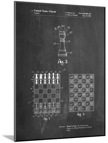 Speed Chess Game Patent-Cole Borders-Mounted Art Print