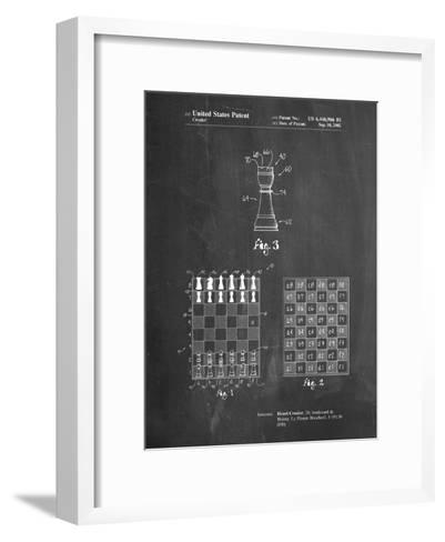 Speed Chess Game Patent-Cole Borders-Framed Art Print
