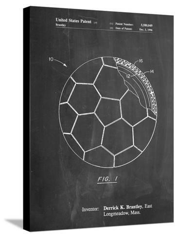 Soccer Ball Layers Patent-Cole Borders-Stretched Canvas Print