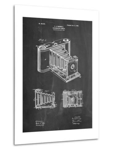 Kodak Pocket Folding Camera Patent-Cole Borders-Metal Print