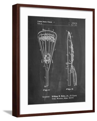 Lacrosse Stick 1936 Patent-Cole Borders-Framed Art Print