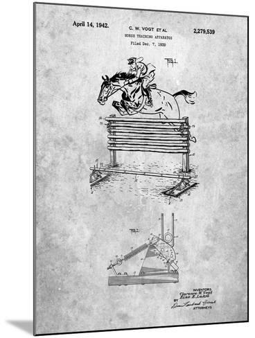 Equestrian Training Oxer Patent-Cole Borders-Mounted Art Print