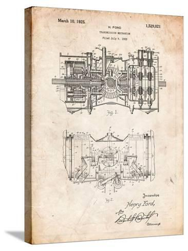 Ford Railcar Transmission Gearing 1925 Patent Print-Cole Borders-Stretched Canvas Print