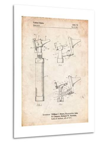 Otoscope Patent Print-Cole Borders-Metal Print
