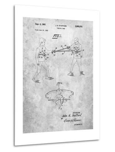 Fencing Game Patent-Cole Borders-Metal Print
