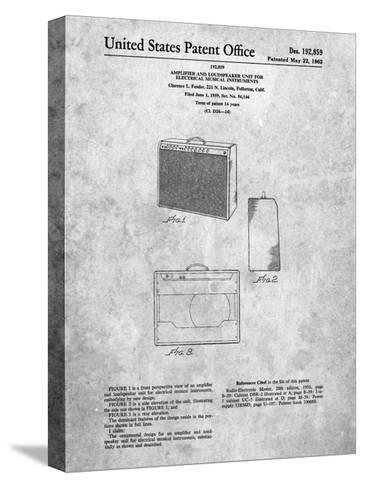Fender 1962 Pro Amp Patent-Cole Borders-Stretched Canvas Print