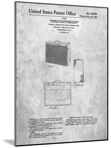 Fender 1962 Pro Amp Patent-Cole Borders-Mounted Art Print