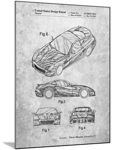 Exotic Sports Car Patent-Cole Borders-Mounted Art Print