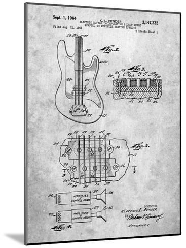 Fender Guitar Pickups Patent-Cole Borders-Mounted Art Print