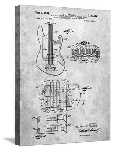 Fender Guitar Pickups Patent-Cole Borders-Stretched Canvas Print