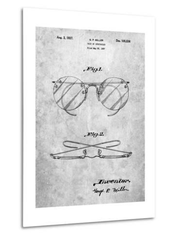 Eyeglasses Spectacles Patent-Cole Borders-Metal Print